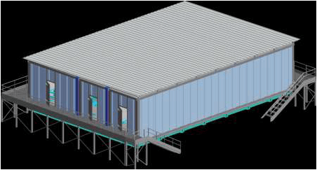 conception 3D ensemble shelter