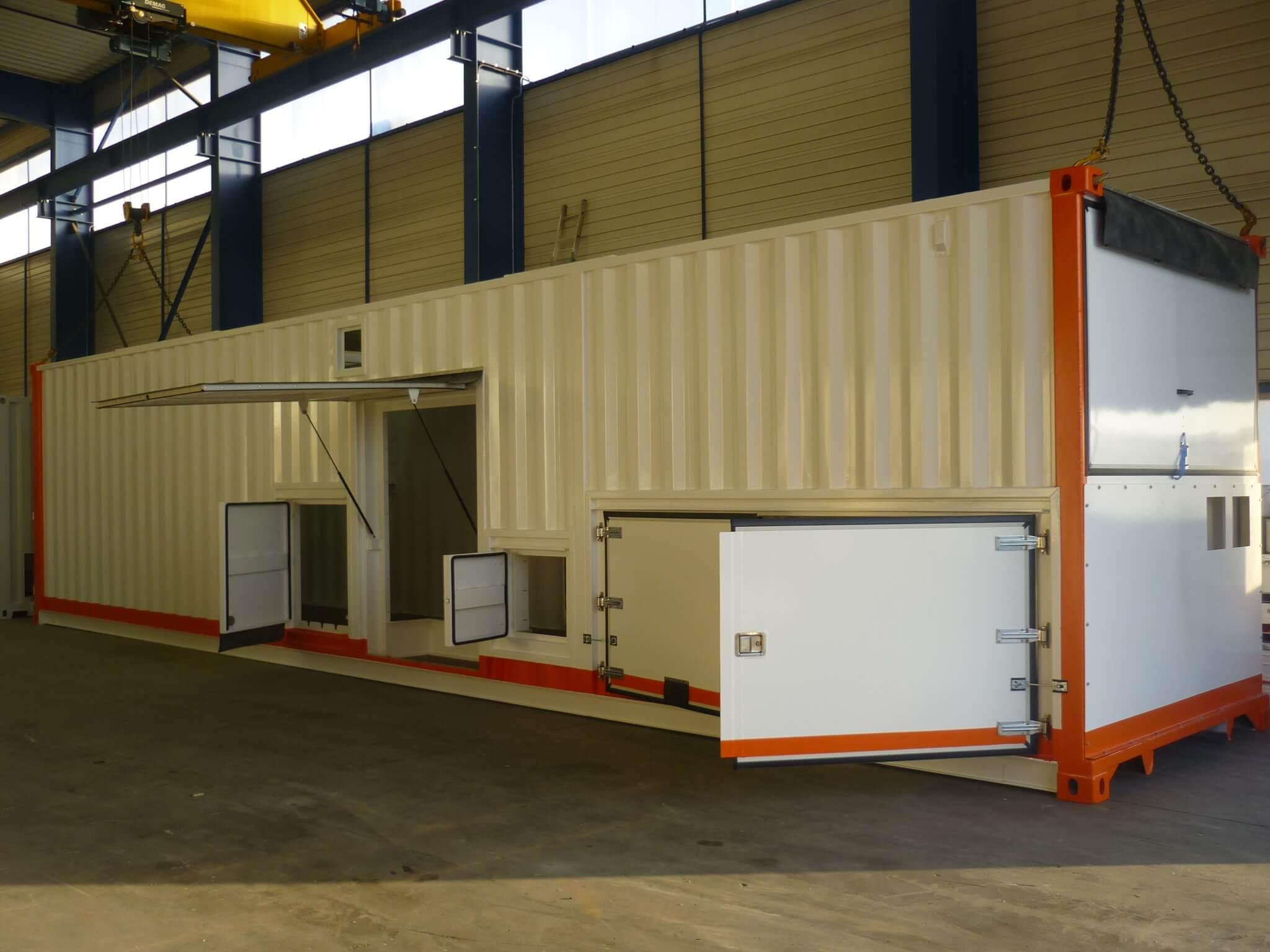 Oxymontage l 39 industrie l ctrique requiert de la - Container amenage ...